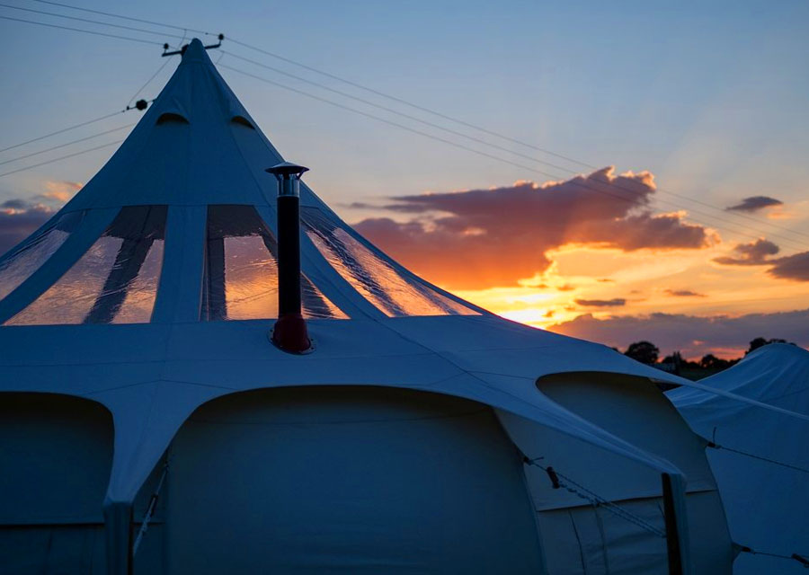 3 beautiful Stargazer Lotus Belle Tents to choose from: The Aurora, First Light and Day Break